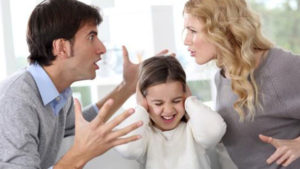 Couple arguing over a child